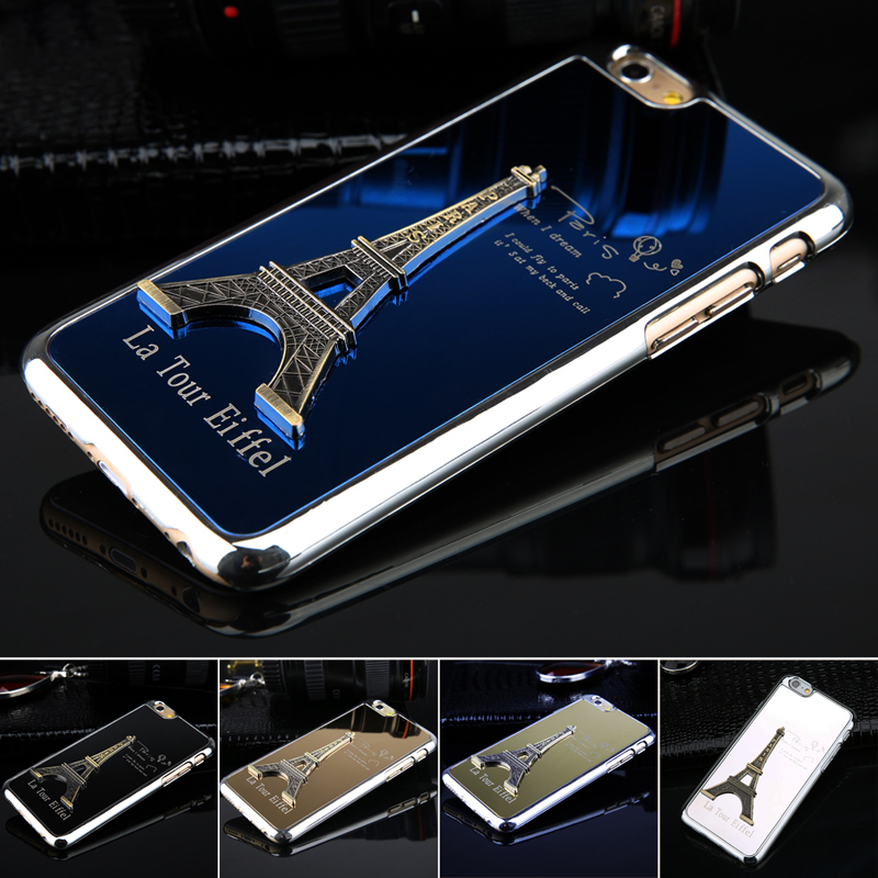 Free shiping 1pcs Metal Phone Cases for iphone 6 4.7 inch Hot Luxury Eiffel Tower Model Protective phone Back Housing Low Price(China (Mainland))