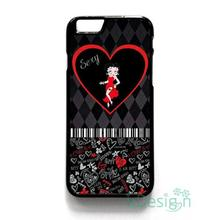Fit for iPhone 4 4s 5 5s 5c se 6 6s 7 plus ipod touch 4/5/6 back skins cellphone case cover SEXY BETTY BOOP