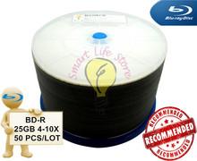 BD-R 25GB 4-10X - 50 PCS/Lot - White Inkjet Printable / BDR 25GB / blu ray disc / bluray disc / blue ray 25GB / blu-ray(China (Mainland))