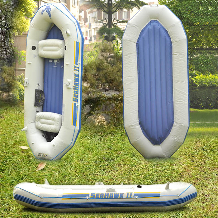 INTEX68377 Seahawk II 3 kayak fishing boat inflatable boat dinghy trio(China (Mainland))