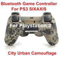 Wireless Bluetooth Controller Gamepad for Sony PS3 Game Controller SIXAXIS Controllers for PlayStation 3 City Urban camouflage