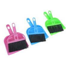 Car Keyboard Cleaning Whisk Broom Dustpan Set 3 Pcs Assorted Color(China (Mainland))