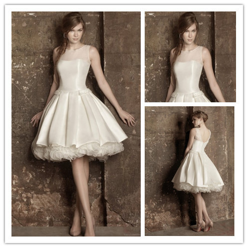 Popular short corset wedding dresses buy cheap short for See through corset top wedding dress