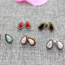 fashion earrings for women 2014 hot selling Stone earrings Christmas gift Upscale atmosphere Ms. Clothing accessories(China (Mainland))