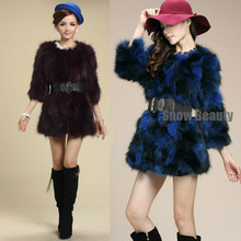 The new 2016 raccoon long hairs in fox fur coat of cultivate one's morality short paragraph 7 minutes of sleeve CW2301(China (Mainland))