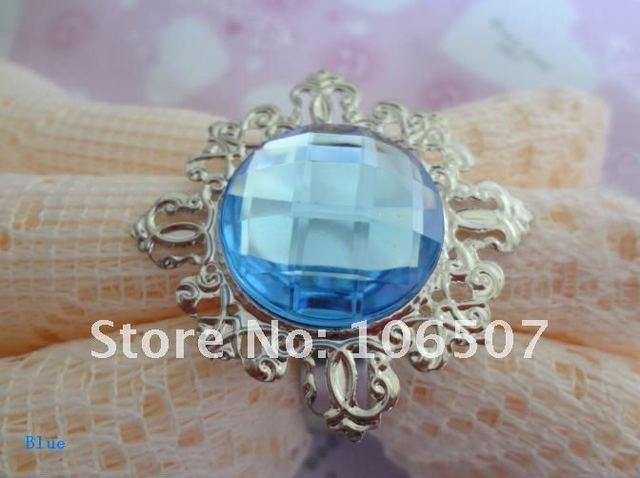 100 Blue Table Napkin Rings Wedding Bridal Favors