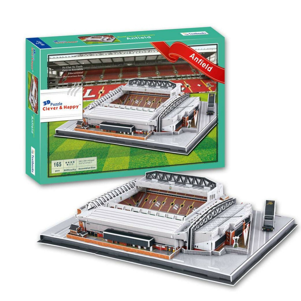 Christmas gift New liverpool fc 3D puzzle model ANFIELD stadium world cup football club game england souvenir(China (Mainland))