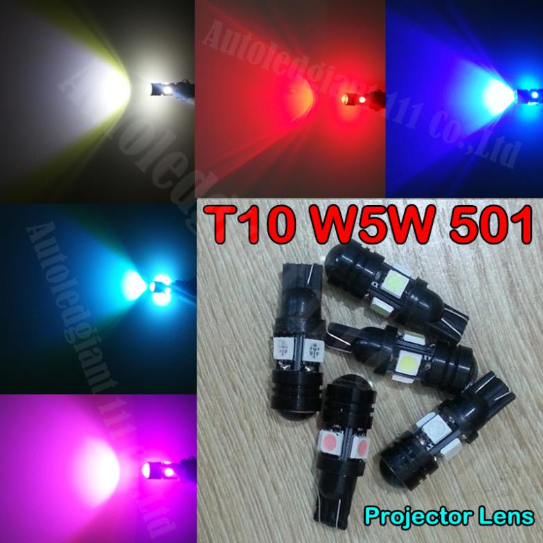 2pieces High Power W5W LED T10 5050SMDCOB 501 Car Light 5Colors Led Projector Lens Side Light Bulbs For TOYOTA MR2 ROADSTER(China (Mainland))