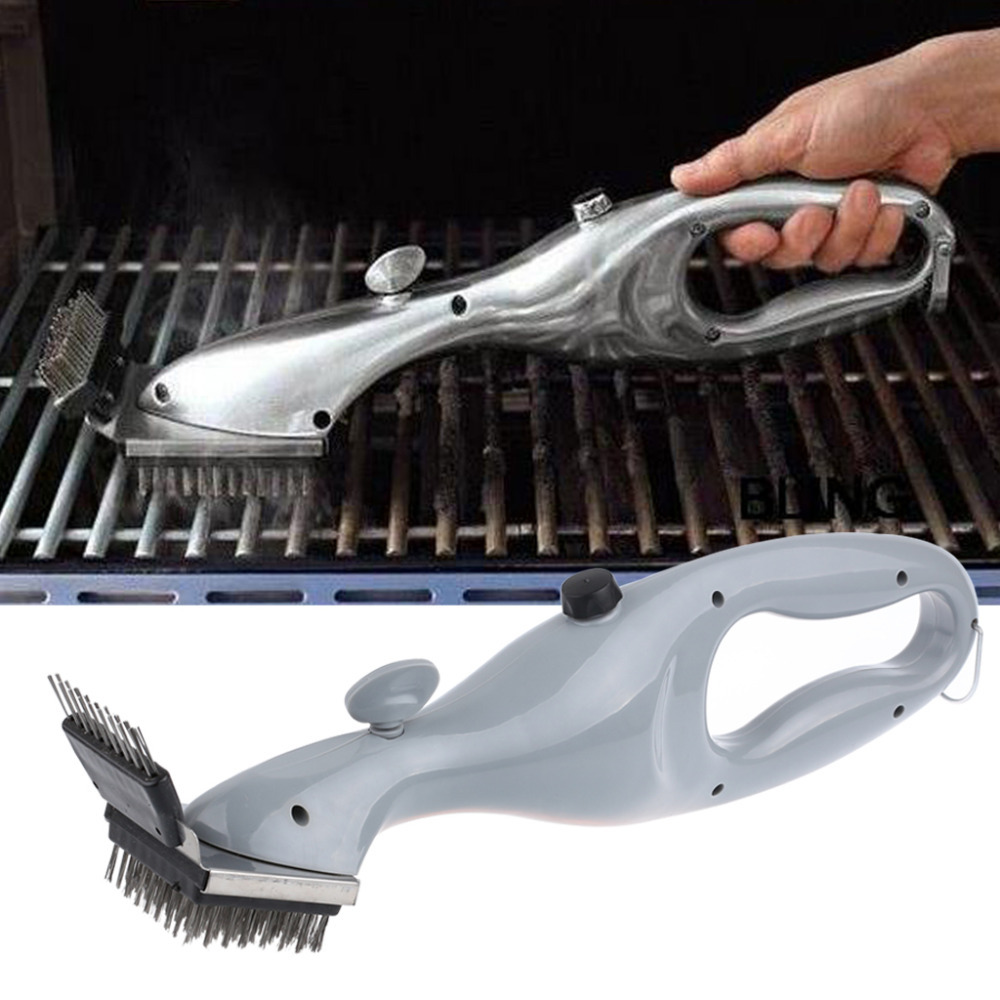Hot Selling Stainless Steel BBQ Accessories Cleaning Brush Barbecue Tools Grill Cleaner with Power of Steam Free Shipping(China (Mainland))