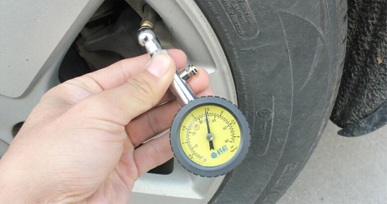 Stainless Steel Meter Tire Pressure Gauge 60 PSI Auto Car Bike Motor Tyre Air Pressure Gauge Meter Vehicle Tester(China (Mainland))