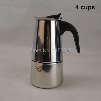 4 200 мл нержавеющая сталь мока эспрессо латте перколяторе плитой кофе горшок