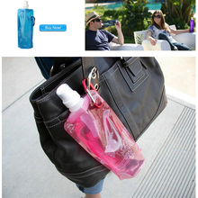 Hot sale 500ml fashion folding Water Bottle Outdoor Camping Mountaineering Tourism Hiking Drinking Water Kettle Free shipping(China (Mainland))