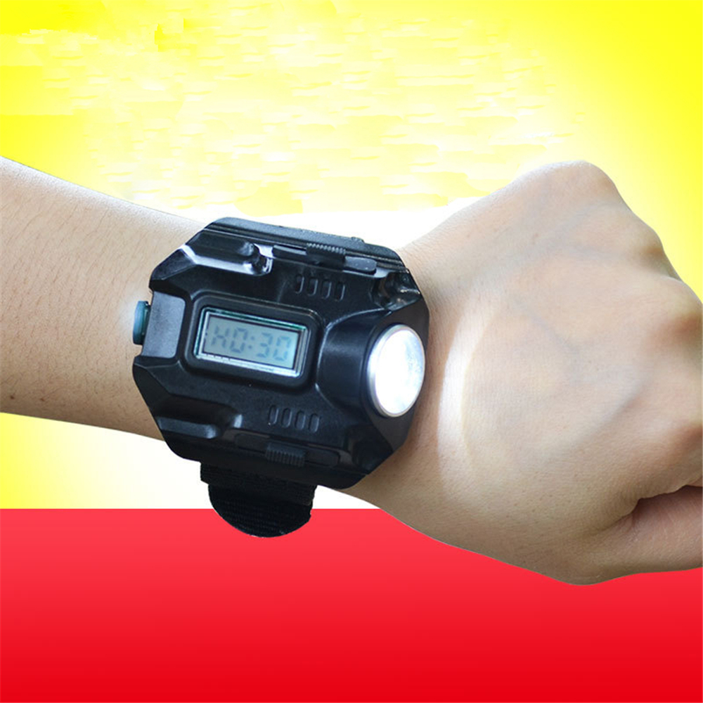 Waterproof Wrist Lighting Torch Outdoor lamp Watch Flash Light Led watch Flashlight LED Wristlight Rechargeable Lamps Lantern(China (Mainland))