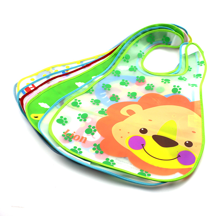 Top Sell Half Clear EVA Plastic Infant Bib Baby Toddler Pinny Boy Girl Feeding Care Waterproof 0-6 years babador acessorios(China (Mainland))