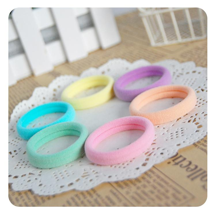 24pcs/lot Mix Colors Elastic Hair Rubber Bands Rope Baby Girl Kids Ponytail Holder Hair Accessories Women Scrunchy Hair Ties Gum(China (Mainland))
