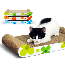 Cat Sunflower Green Corrugated Scratch Board Claws Grinding Bed House Mat Pet Supplies Cat Sofa Play Game Rest 2016 New Summer(China (Mainland))