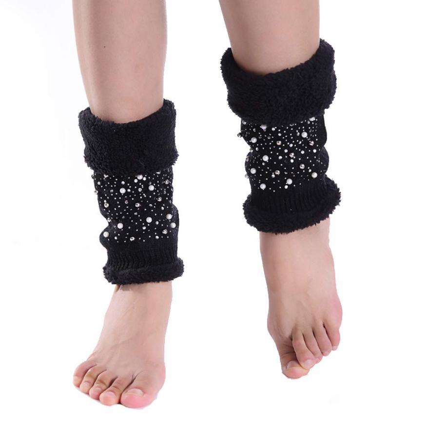 Fashion Style Design 23cm Winter leg warmers for women,Cotton Women Leg Warmers plus size Short Socks Boot Cover Free Shipping(China (Mainland))