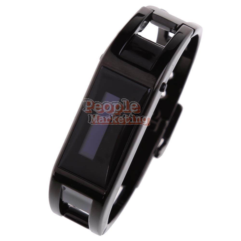 Black Bluetooth Bracelet Watch Caller ID Time LCD Vibration Wristwatch(China (Mainland))
