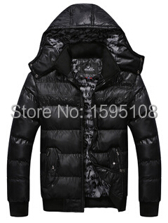 Men's add wool imitation down cotton-padded clothes coat Han edition cultivate one's morality men's pure color joker(China (Mainland))