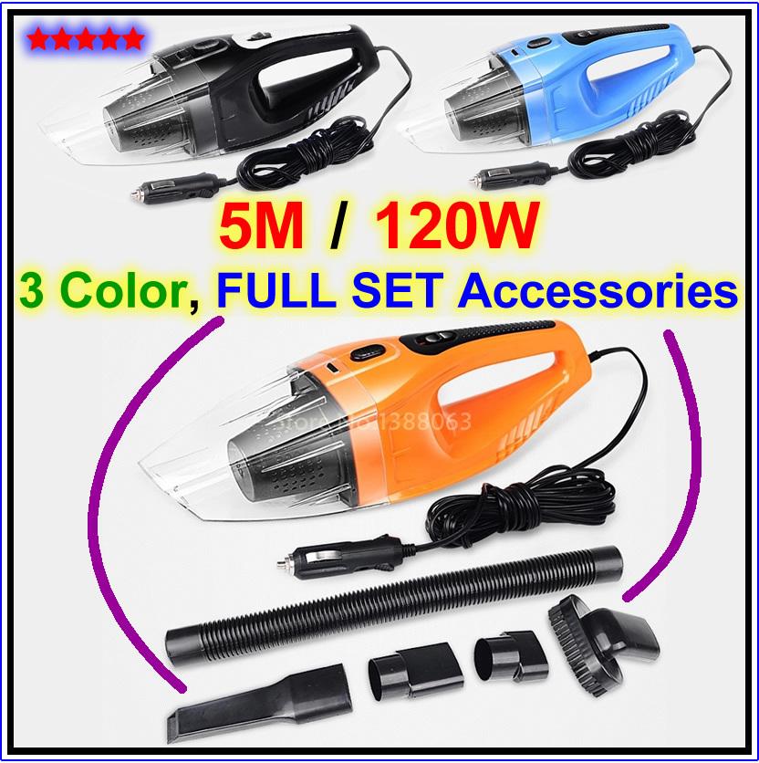 2015 NEW Portable Car vacuum cleaner wet and dry aspirador de po dual-use super suction 120W aspirador de po portatil(China (Mainland))