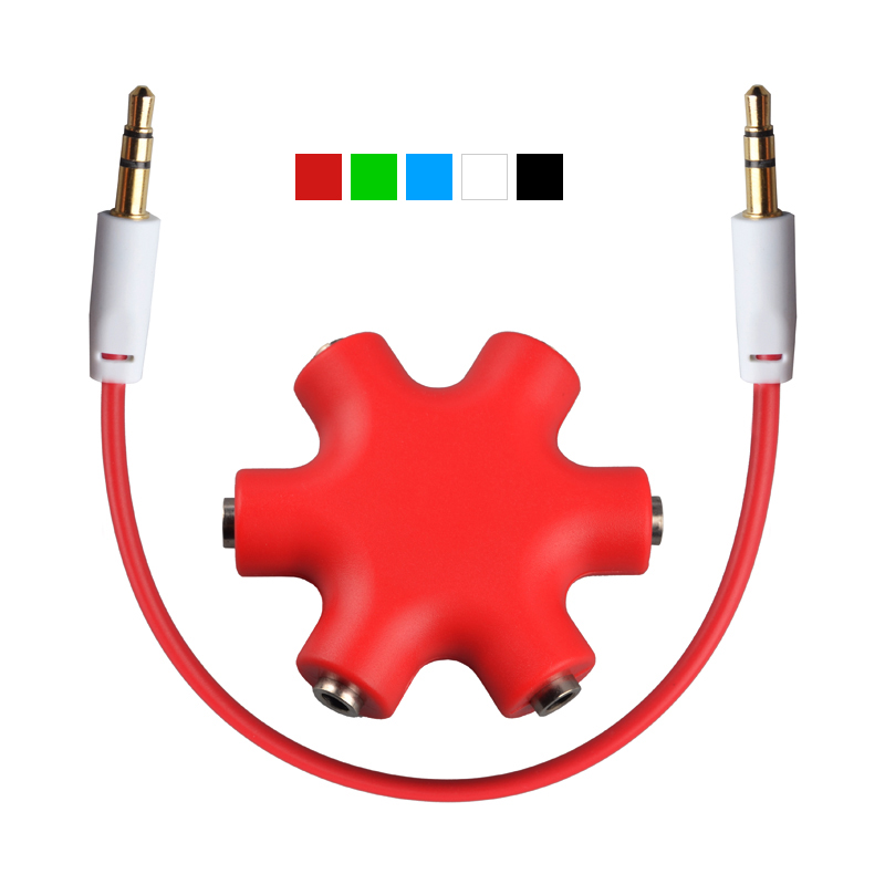 3.5mm Headphone Earphone Extension Stereo Audio Splitter Adapter 1 Male to 2 3 4 5 Female Music Sharing Audio Cable HAXC-1118(China (Mainland))