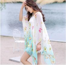 Seaside summer sun Fashion silk veil scarf shawl summer long section of a large beach towel female shawl Scarves(China (Mainland))