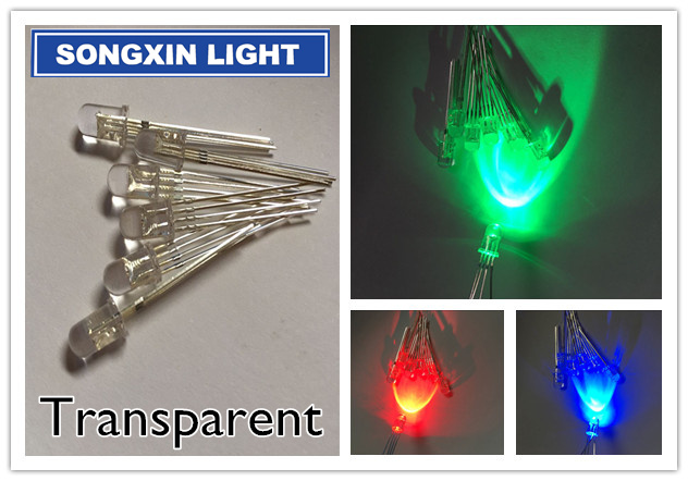 Free shipping 200pcs 5mm RGB LED Common Cathode/Anode Tri-Color Emitting Diodes f5 RGB transparent Round highlight(China (Mainland))
