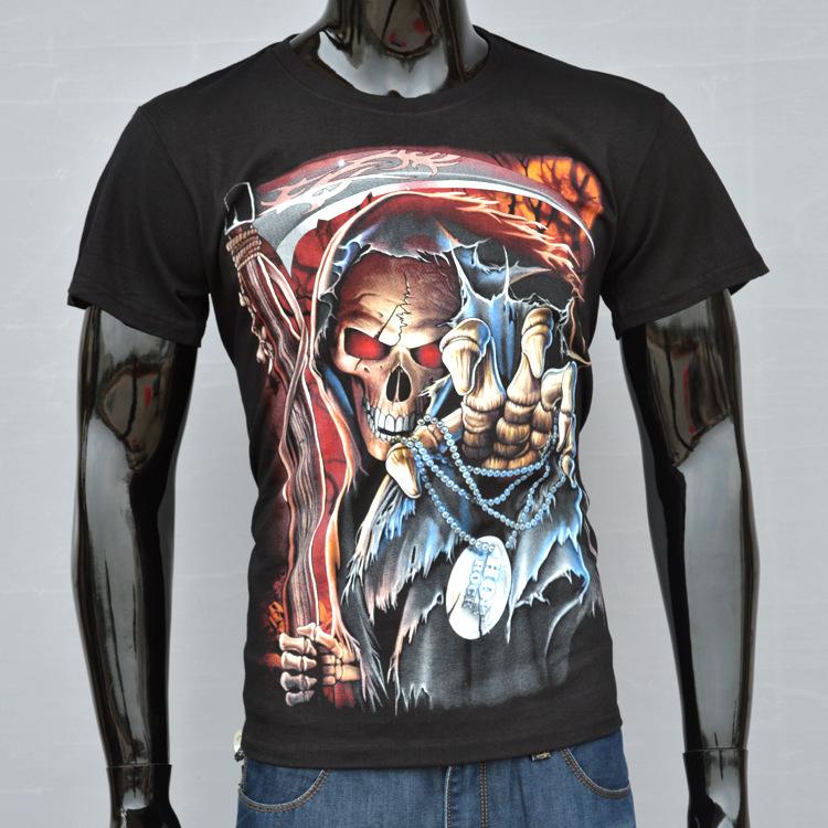 Мужская футболка Steve Cotton Shirt 3Dt t /grim Reaper 3D T24
