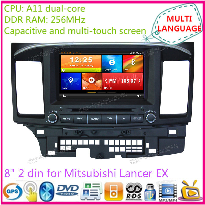 7 inch touch screen 2 din car dvd gps multimedia player automotive navigation system radio Mitsubishi Lancer EX - Cartouch Entertainment store