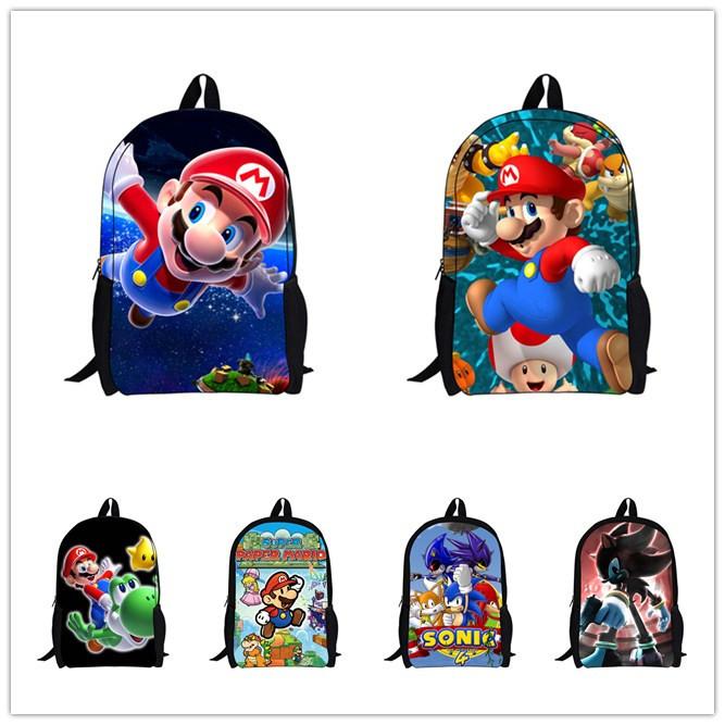 2015 Hot Sale Children s 3D Cartoon Backpack Cool Outdoor Super Mario School Backpack for Kids Mario Bros Shoulder Bags for Boys