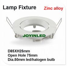 10 pcs/lote livraison gratuite gel blanc couleur aluminium raccords LED plafond support de lampe GU10 / MR16 appareils(China (Mainland))