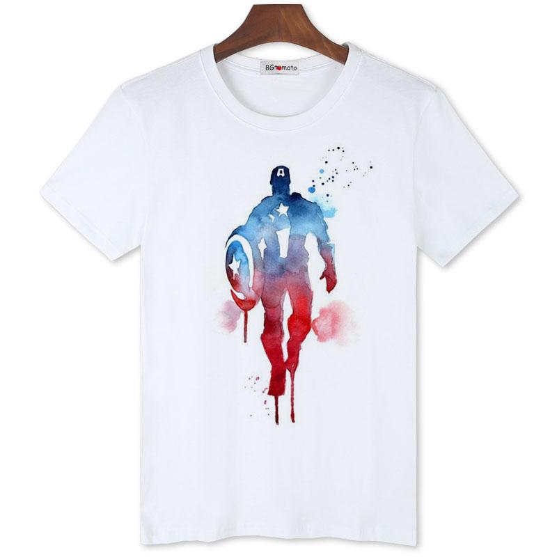BGtomato artwork Captain America t shirt New product Originality art shirt for men Brand good quality comfortable cotton tops(China (Mainland))