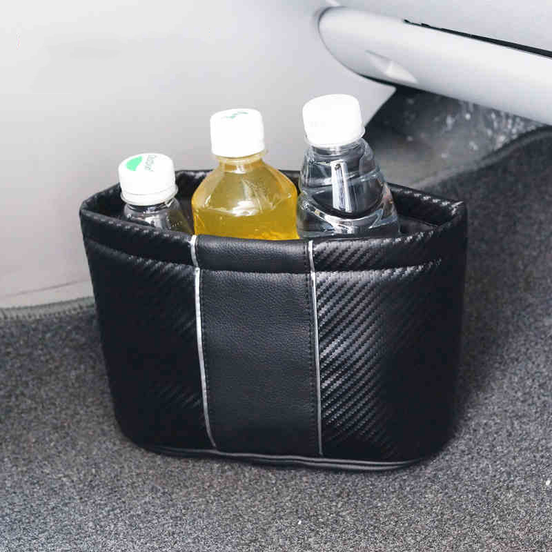 Carbonia Pocket Car Storage Bag Car storage box Trash can Small objects storage Car CD/drink holder Black color(China (Mainland))