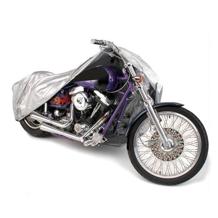 Silver Motorcycle Cover L Size 220*95*110cm Weatherproof Dust Rain Outdoor Motorbike Covering Outdoor Touring Scooter 180T(China (Mainland))