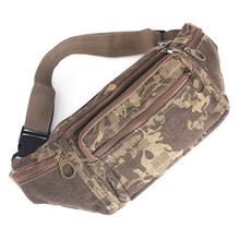 2015 Canvas Sport Waist Packs Man Jogging Fitness Climbing Bag Pouch Money Belt Fashion Men Pack Durable Camouflage Color Cool