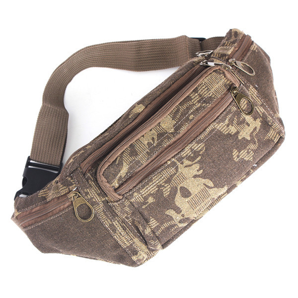 2015 Canvas Sport Waist Packs Man Jogging Fitness Climbing Bag Pouch Money Belt Fashion Men Pack Durable Camouflage Color Cool(China (Mainland))