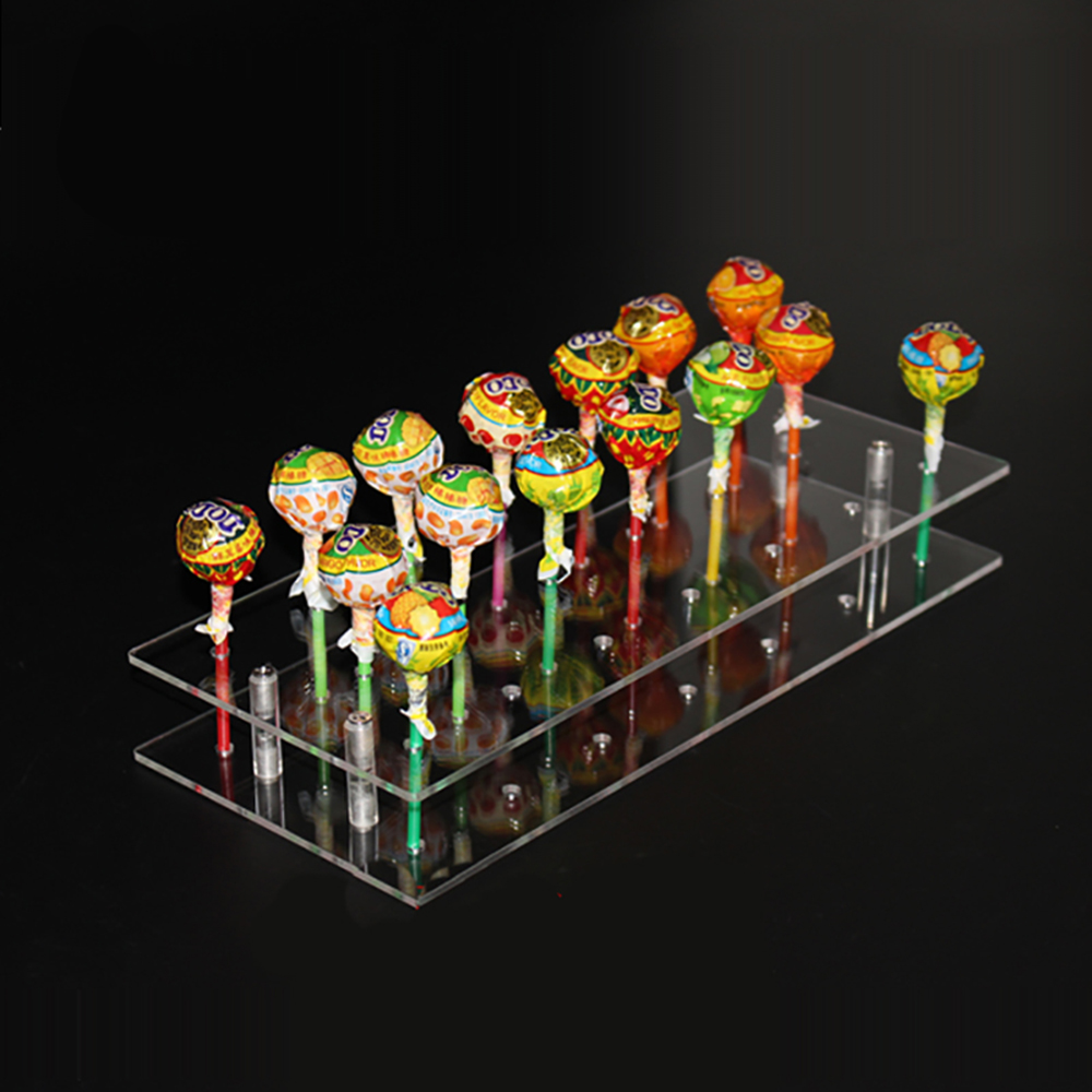 20 hole Acrylic Cake Pop Lollipop Clear Pink Display Stand Server Decoration Display /Stand/Hodler/Base/Shelf(China (Mainland))