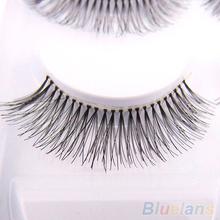 5 Pairs Natural Sparse Cross Eye Lashes Extension Makeup Long False Eyelashes(China (Mainland))
