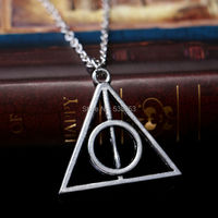 2015 New Style Fashion Silver Plated Simple Hallows Necklace For Women Triangle Jewelry Accessories Hot Sales