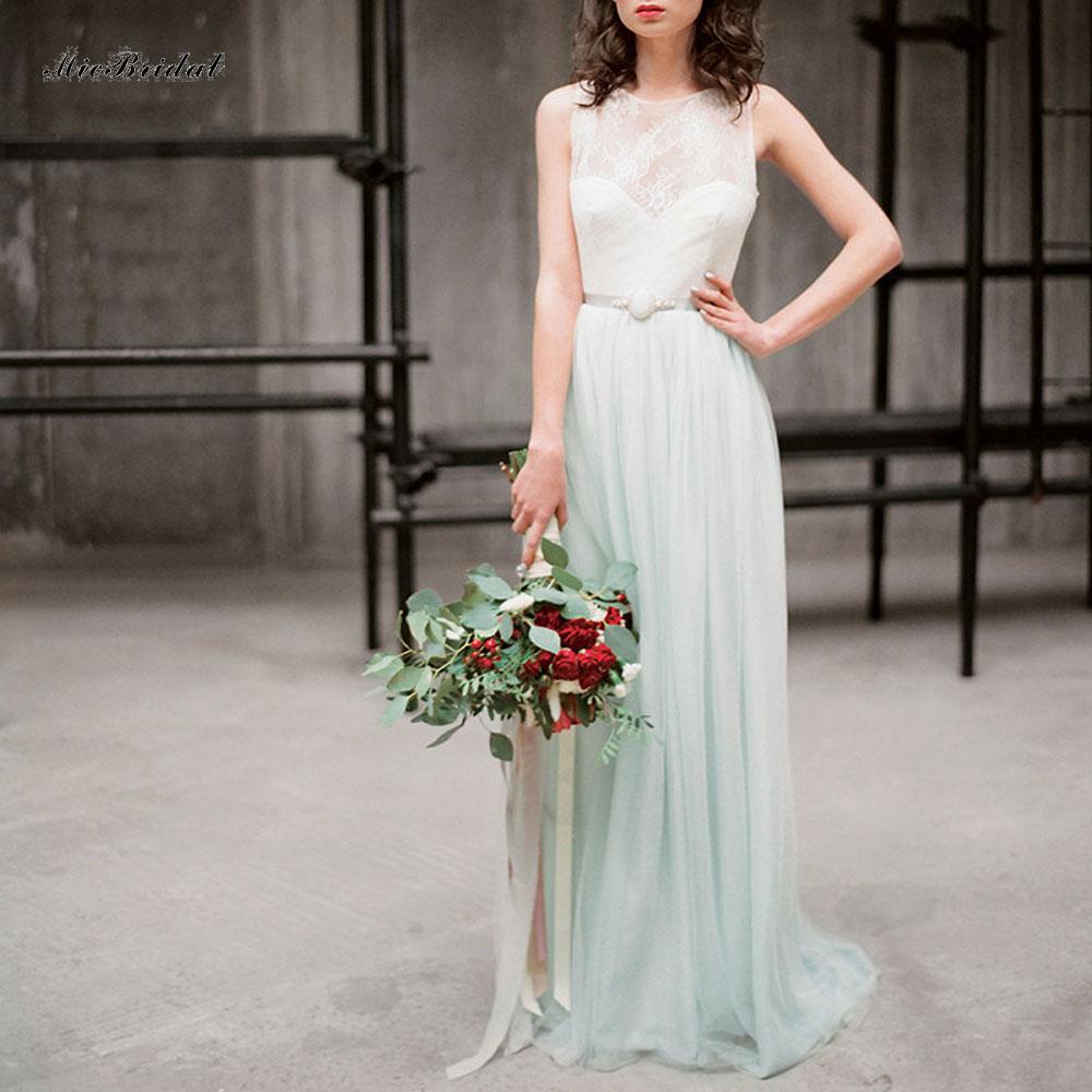 PP-49 Elegant Chiffon A Line&Beach Mint Green Wedding Dress with Jacket Soft Tulle Keyhole Back Bridal Gown Vestido de noiva(China (Mainland))