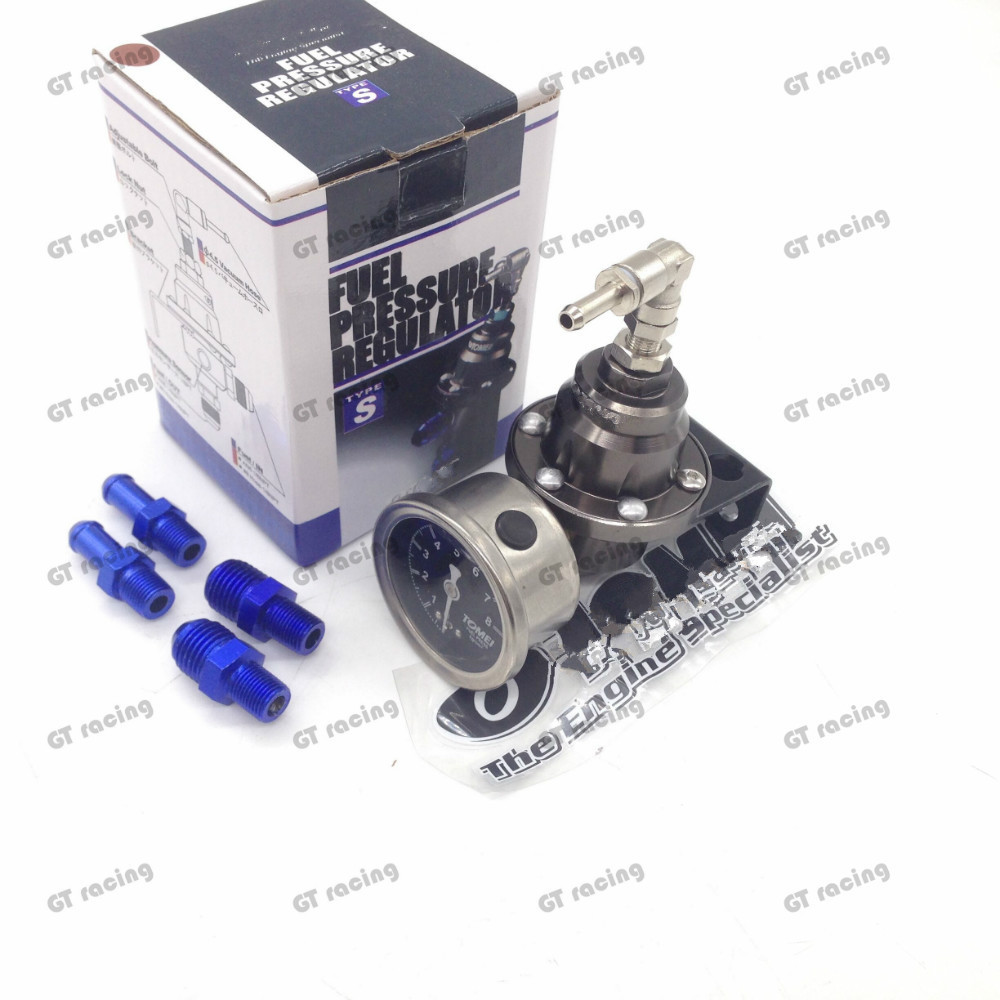 fuel pressure regulator with logo and originalpackage red blue gold silver black Titanium fuel regulator