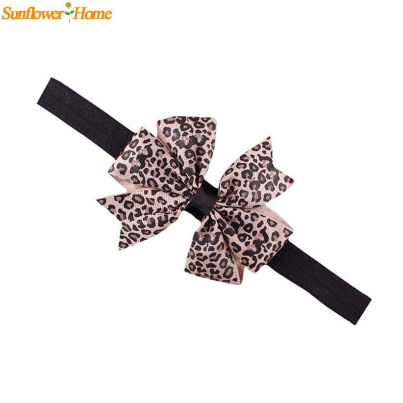 Newly Design Lovely Sweet Children's Elastic Force Hair Band Princess Baby Girl Round Dot Bowknot Leopard Hairband June9(China (Mainland))
