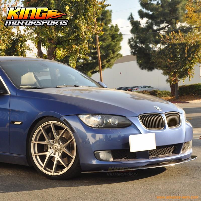 Fit For 2005-2013 BMW E92 E90 3 Series Coupe Sedan Carbon Fiber Front Bumper Lip