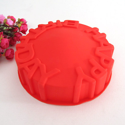 Top Quality Silicone Happy Birthday Cake Mold big size cake mold large bread mould pan kitchen tools(China (Mainland))