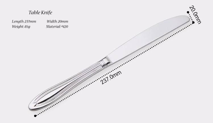 Buy Stainless Cutlery 24 Flatware Sets Silver Salad Luxury Restaurant Kitchen Wedding Dinner Beautiful Dinnerware Tableware Knife cheap