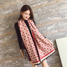 fashion winter wool 5 color plane design scarf Thick women winter scarves new weave design couple scarf(China (Mainland))