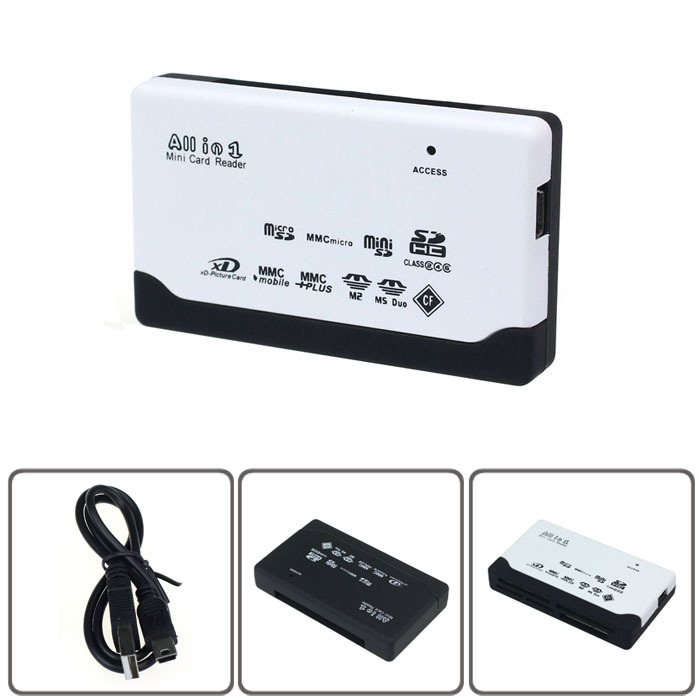 2014 new arrivel USB 2.0 Card Reader for SD XD MMC MS CF SDHC TF Micro SD M2 Adapter Leo Onfine Leo(China (Mainland))