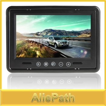9 Inch Remote Control Dashboard Car Monitor TV Rearview Reverse 2 Video Input TFT LCD Color Screen, .