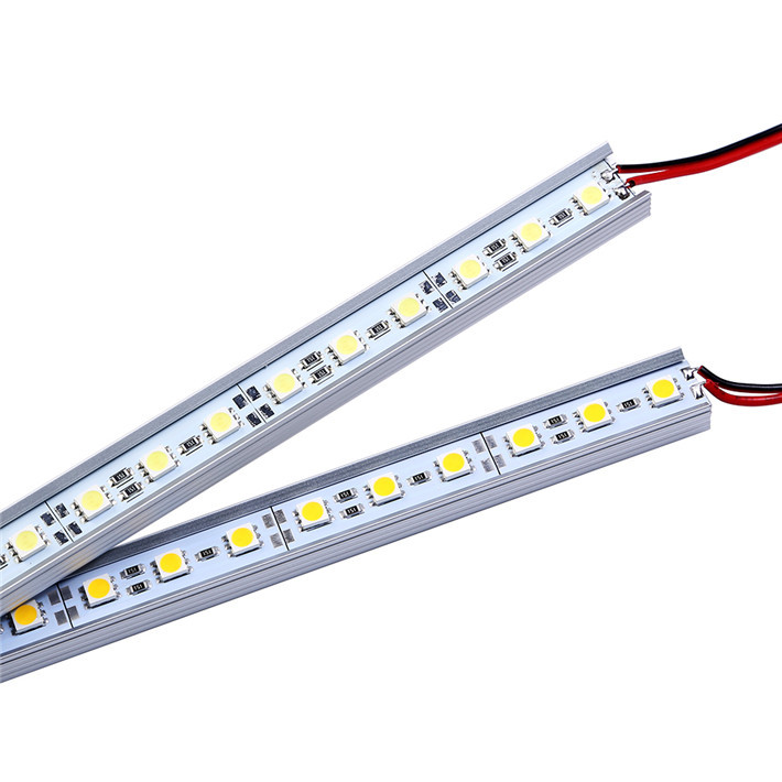 2pcs/lot 5050 SMD LED Bar Light White/Warm White 36LEDS 50CM Cabinet LED Rigid Strip DC12V Showcase LED Hard Strip Free shipping(China (Mainland))