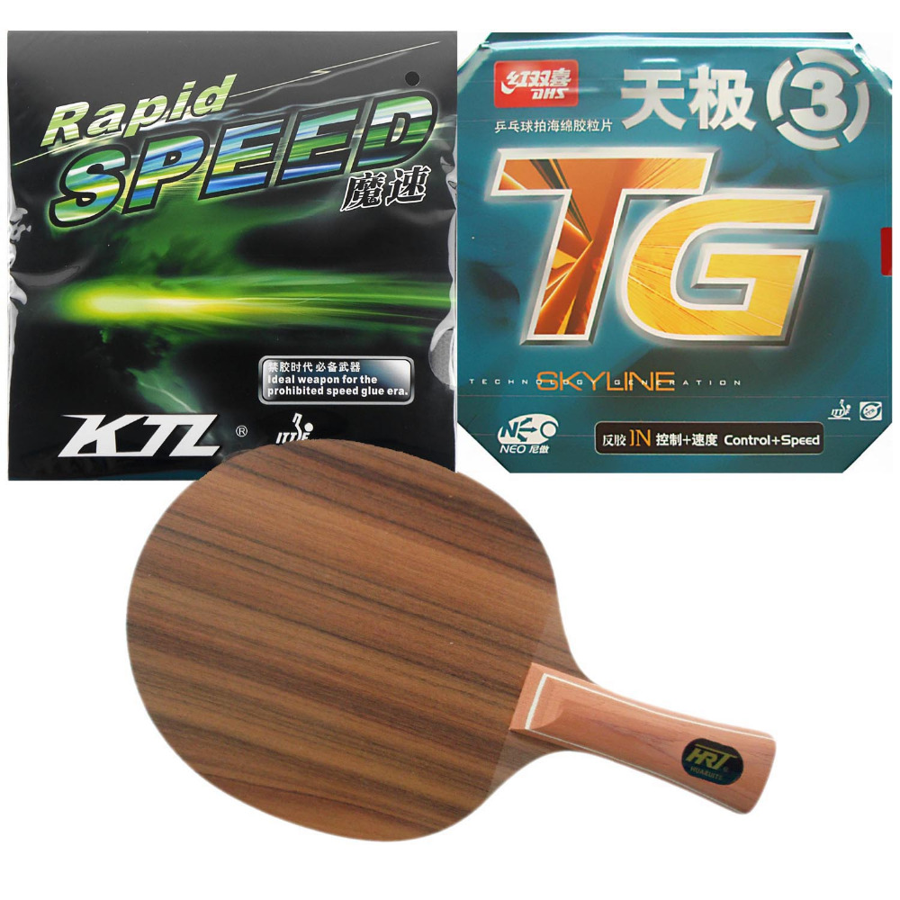 Pro Table Tennis (PingPong) Combo Racket: HRT Rose7 + DHS NEO Skyline TG3 / LKT Rapid Speed<br><br>Aliexpress
